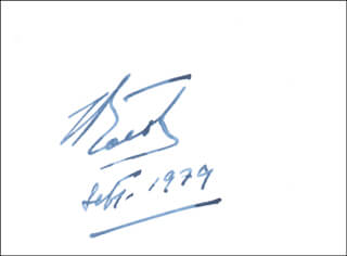 Autographs: JEAN BOROTRA - CALLING CARD SIGNED 09/1979