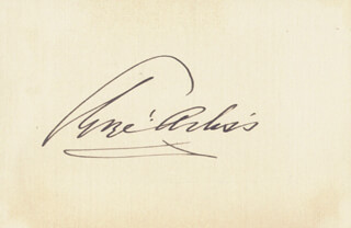 GEORGE ARLISS - AUTOGRAPH