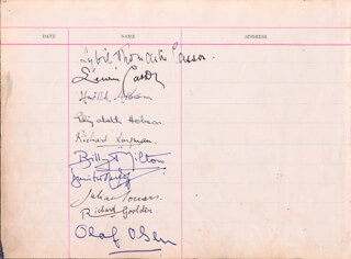 DAME SYBIL THORNDIKE - AUTOGRAPH CO-SIGNED BY: LEWIS CASSON, RICHARD GOOLDEN, OLAF OLSEN, BILLY MILTON