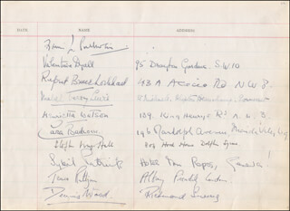TERENCE RATTIGAN - AUTOGRAPH CO-SIGNED BY: VALENTINE DYALL, HENRIETTA WATSON, WENDY TOYE, PETER YORKE, ARTHUR FERRIER