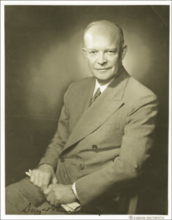 PRESIDENT DWIGHT D. EISENHOWER - AUTOGRAPHED SIGNED PHOTOGRAPH