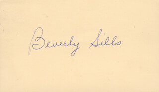 BEVERLY SILLS - POST CARD SIGNED CIRCA 1959