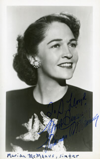 MARIAN McMANUS - INSCRIBED PRINTED PHOTOGRAPH SIGNED IN INK