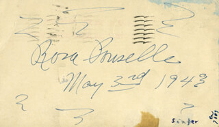ROSA PONSELLE - POST CARD SIGNED 05/03/1943