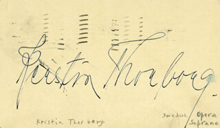 KERSTIN THORBORG - POST CARD SIGNED CIRCA 1946
