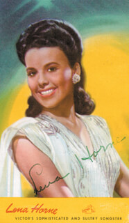 LENA HORNE - PICTURE POST CARD SIGNED