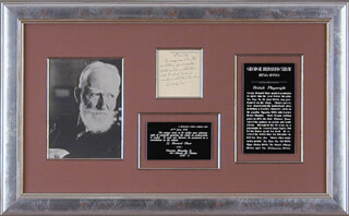 Autographs: GEORGE BERNARD SHAW - AUTOGRAPH NOTE SIGNED 06/19/1931