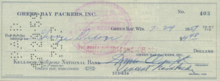 VINCE LOMBARDI - AUTOGRAPHED SIGNED CHECK 07/24/1959 CO-SIGNED BY: DOMINIC OLEJNICZAK, GEORGE DIXON