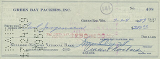 VINCE LOMBARDI - AUTOGRAPHED SIGNED CHECK 07/24/1959 CO-SIGNED BY: DOMINIC OLEJNICZAK, CARL JORGENSEN