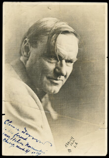 CLARENCE DARROW - AUTOGRAPHED INSCRIBED PHOTOGRAPH 03/24/1924
