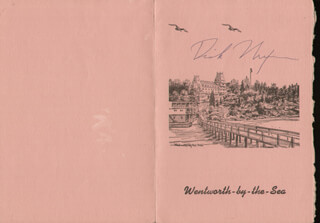 PRESIDENT RICHARD M. NIXON - MENU SIGNED CIRCA 1964