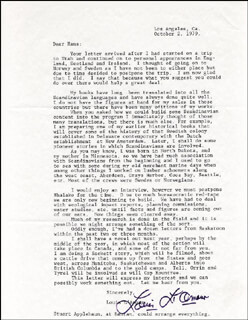 LOUIS D. L'AMOUR - TYPED LETTER SIGNED 10/02/1979