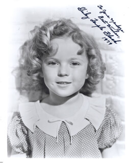 SHIRLEY TEMPLE - AUTOGRAPHED INSCRIBED PHOTOGRAPH 1979