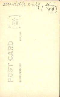 CHIEF MIDDLE CALF - PICTURE POST CARD SIGNED