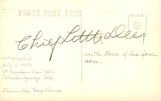 CHIEF LITTLE DEER - PICTURE POST CARD SIGNED CIRCA 1950