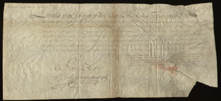 Autographs: KING LOUIS XV (FRANCE) - DOCUMENT UNSIGNED 05/20/1732