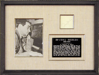 Autographs: IRVING BERLIN - SIGNATURE(S)