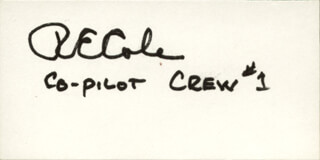 Autographs: COLONEL RICHARD E. COLE - SIGNATURE(S)