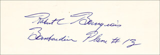 Autographs: ROBERT C. BOURGEOIS - SIGNATURE(S)