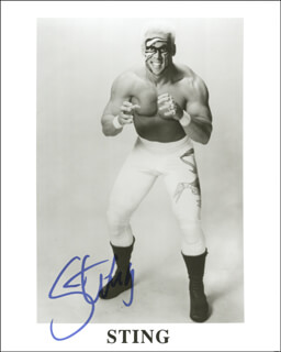 STING (STEVE BORDEN) - AUTOGRAPHED SIGNED PHOTOGRAPH