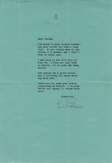 LILA LEE - TYPED LETTER SIGNED