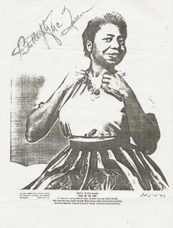 BUTTERFLY McQUEEN - AUTOGRAPH SENTIMENT SIGNED