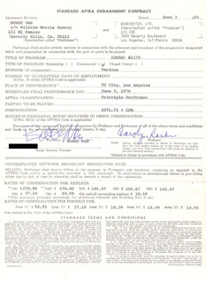 BOBBY VAN - CONTRACT SIGNED 06/03/1976