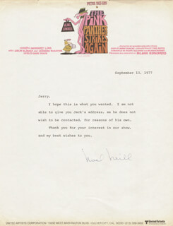 NOEL NEILL - TYPED LETTER SIGNED 09/13/1977