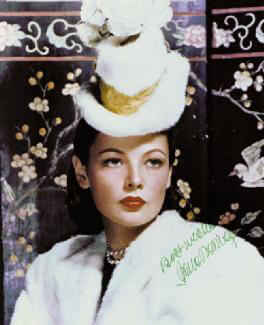 GENE TIERNEY - AUTOGRAPHED SIGNED PHOTOGRAPH