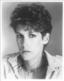 JAMIE LEE CURTIS - AUTOGRAPHED INSCRIBED PHOTOGRAPH