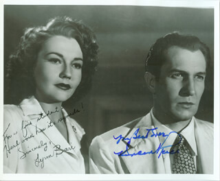 SHOCK MOVIE CAST - AUTOGRAPHED INSCRIBED PHOTOGRAPH CO-SIGNED BY: LYNN BARI, VINCENT PRICE