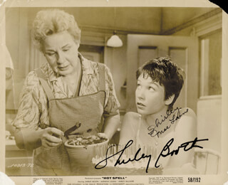 HOT SPELL MOVIE CAST - AUTOGRAPHED SIGNED PHOTOGRAPH CO-SIGNED BY: SHIRLEY BOOTH, SHIRLEY MacLAINE