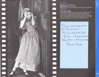 LILLIAN GISH - AUTOGRAPH NOTE SIGNED