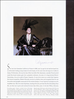 CAPUCINE - MAGAZINE PAGE SIGNED