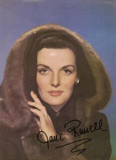 JANE RUSSELL - BOOK PHOTOGRAPH SIGNED