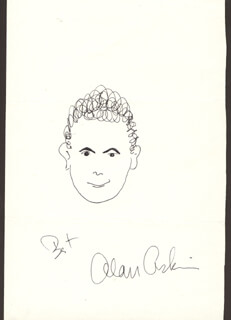 ALAN ARKIN - SELF-CARICATURE SIGNED