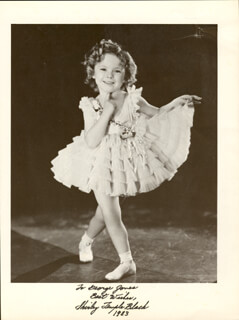 SHIRLEY TEMPLE - INSCRIBED BOOK PHOTOGRAPH SIGNED 1983