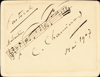 CECILE CHAMINADE - AUTOGRAPH MUSICAL QUOTATION SIGNED 5/1907