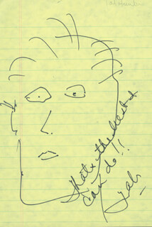 TAB HUNTER - SELF-CARICATURE SIGNED