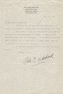 NILS T. GRANLUND - TYPED LETTER SIGNED 01/17/1945