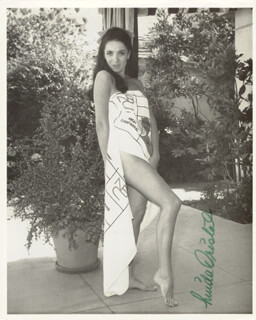 LINDA CRISTAL - AUTOGRAPHED SIGNED PHOTOGRAPH