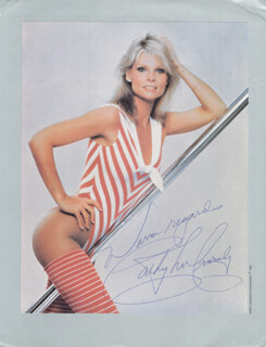 Autographs: CATHY LEE CROSBY - MAGAZINE PHOTOGRAPH SIGNED