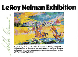 LEROY NEIMAN - PAMPHLET SIGNED CIRCA 1977