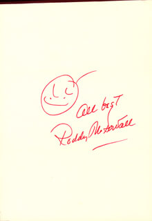 RODDY McDOWALL - SELF-CARICATURE SIGNED