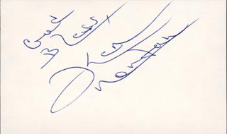KEN NORTON - AUTOGRAPH SENTIMENT SIGNED