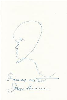 Autographs: IRENE DUNNE - SELF-CARICATURE SIGNED