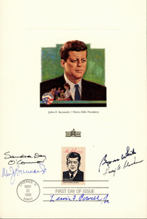 Autographs: ASSOCIATE JUSTICE WILLIAM J. BRENNAN JR. - COMMEMORATIVE SHEET WITH FIRST DAY CANCELLATION CIRCA 1986 CO-SIGNED BY: ASSOCIATE JUSTICE BYRON R. WHITE, ASSOCIATE JUSTICE LEWIS F. POWELL JR., ASSOCIATE JUSTICE SANDRA DAY O'CONNOR, ASSOCIATE JUSTICE HARRY A. BLACKMUN