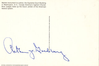 Autographs: ASSOCIATE JUSTICE ARTHUR J. GOLDBERG - PICTURE POST CARD SIGNED