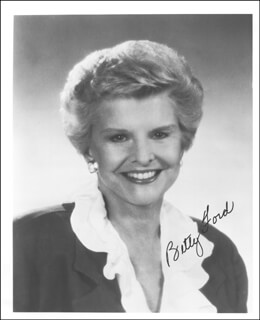 FIRST LADY BETTY FORD - AUTOGRAPHED SIGNED PHOTOGRAPH