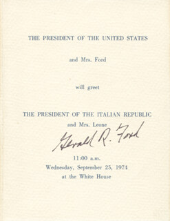 PRESIDENT GERALD R. FORD - PROGRAM SIGNED CIRCA 1974
